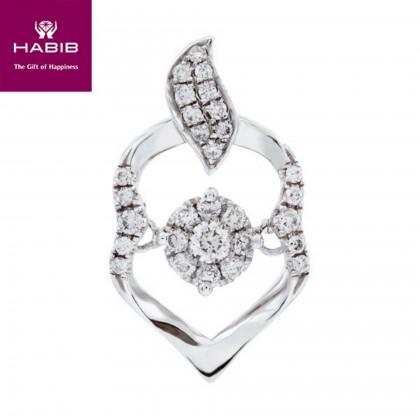 Aruba Diamond Pendant in 750/18K White Gold 35115