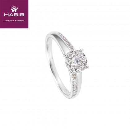 Magical You White Diamond Ring in 750/18K White Gold 24080
