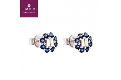 Augustus Blue Sapphire Diamond Earring