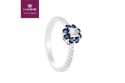 Augustus Blue Sapphire Diamond Ring