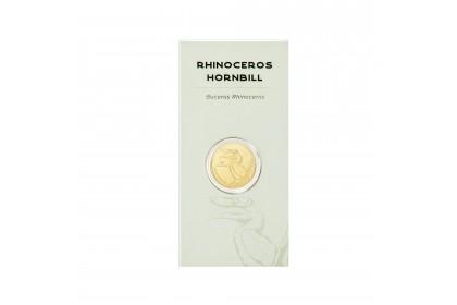 Rhinoceros Hornbill Zoo Negara Gold Wafer, 999 Gold (0.20G)