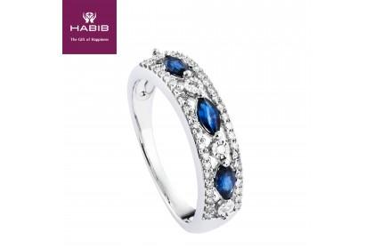 Rayna Grande Blue Sapphire Diamond Ring