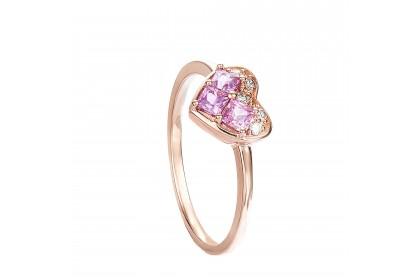 Princess Pink Sapphire Gemstone Ring