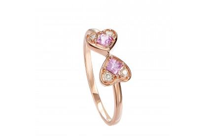 Mini Love Pink Sapphire Gemstone Ring