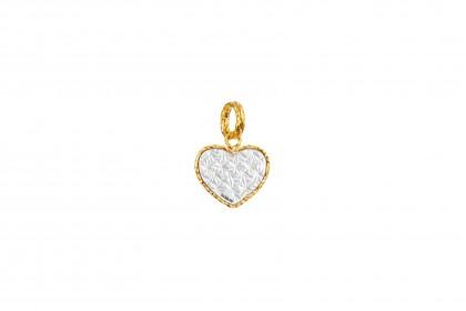 Oro Italia 916 White and Yellow Gold Charm (1.21G) GCM90671020(W)-BI