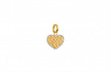 Oro Italia 916 White and Yellow Gold Charm (1.19G) GCM90671020(Y)-BI