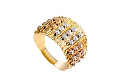 Oro Italia 916 Sicilia White, Yellow and Rose Gold Ring (6.43G) GR44331120-TI