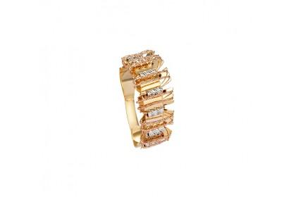 Oro Italia 916 Sicilia White, Yellow and Rose Gold Ring (5.65G) GR4343-TI