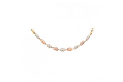 Oro Italia 916 Grande White, Yellow and Rose Gold Bracelet (16.35G) GW36761120-TI