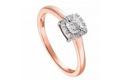 Illusion Rose Gold Diamond Ring 24818(RG)