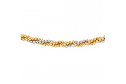Oro Italia 916 White and Yellow Gold Bracelet (15.30G) GW3397-BI