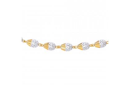 Oro Italia 916 Grande White and Yellow Gold Bracelet (11.65G) GW36781120-BI
