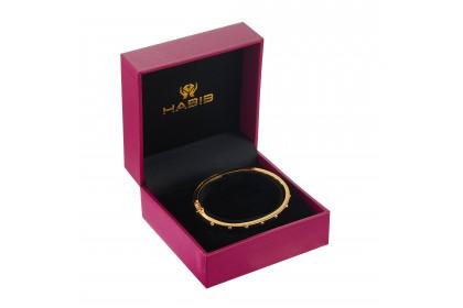 Oro Italia 916 Luna White and Yellow Gold Bangle (13.44G) GB86720720(4YW)-BI