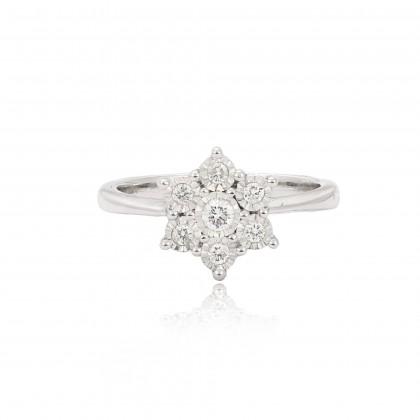 Aurora Diamond Ring 24526(R) in 375/9k White Gold