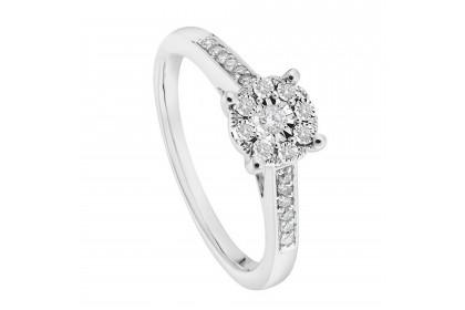 Iris White Gold Diamond Ring