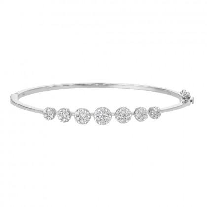 Adore Anna Maria White Gold Diamond Bangle in 750/18K White Gold 67867-WG