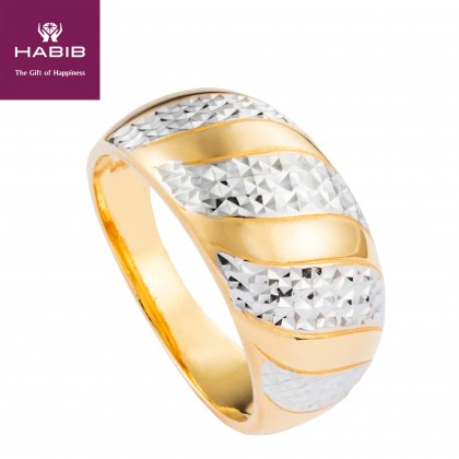 Anastasia White and Yellow Gold Ring, 916 Gold (5.87G) R63220220(L)