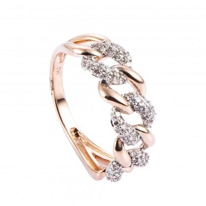 Audrey Rose Gold Diamond Ring in 375/9K Rose Gold 25708