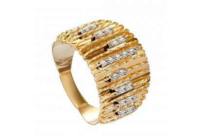 Oro Italia 916 Sicilia White and Yellow Gold Ring (6.03G) GR44281120-BI