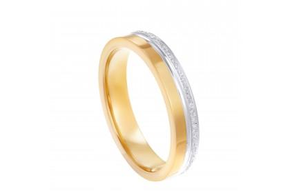 Oro Italia 916 White and Yellow Gold Ring (3.90G) GR44511220-BI