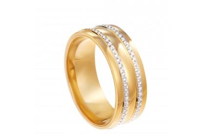 Oro Italia 916 White and Yellow Gold Ring (4.87G) GR44501220-BI
