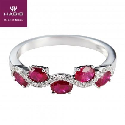 Eloise Ruby Gemstone Diamond Ring in 375/9K White Gold 259130920-RY