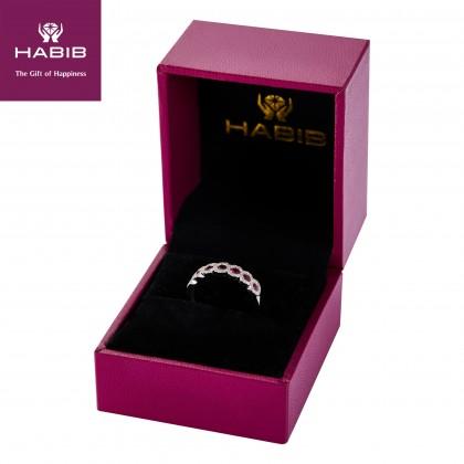 Anais Ruby Gemstone Diamond Ring in 375/9K White Gold 259120920-RY