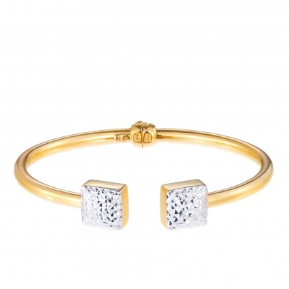 Elysian White and Yellow Gold Bangle (13.37G) SG60850121