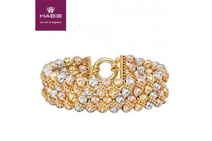 HABIB Oro Italia Lakresha Gold Bangle, 916 Gold (42.30G)