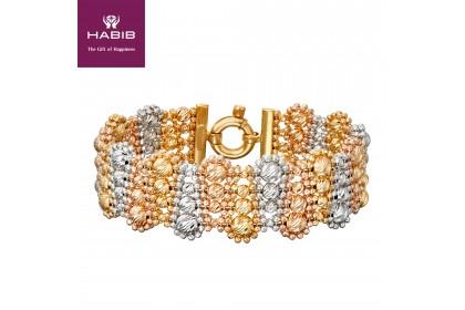 Oro Italia Rosa Maria Gold Bangle, 916 Gold (43.13G)