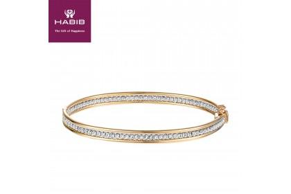 Oro Italia 916 White and Yellow Gold Bangle (13.82G) GB86550220-BI
