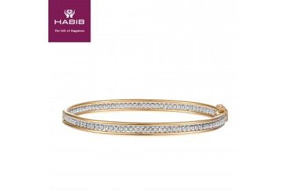 Oro Italia 916 White and Yellow Gold Bangle (13.07G) GB86550220-BI