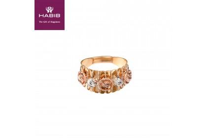 Oro Italia 916 Sicilia White, Yellow and Rose Gold Ring (4.76G) GR44150220-TI