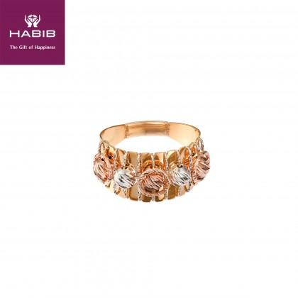 Oro Italia 916 Sicilia White, Yellow and Rose Gold Ring (4.60G) GR44150220-TI