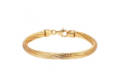Oro Italia 916 Cavo Yellow Gold Bangle (29.56G) GB8528