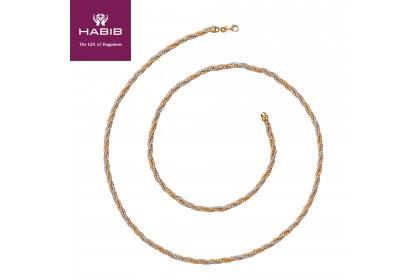 Oro Italia Caroline Gold Necklace, 916 Gold (52.36G)
