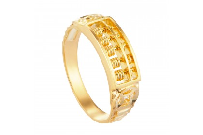 Haura Abacus Yellow Gold Ring 916 Gold (3.08G) LR1140121