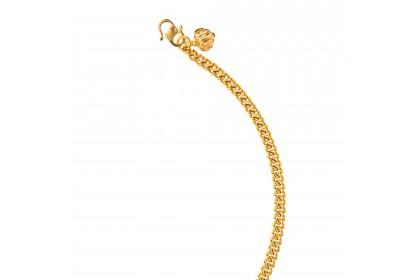 Sauh Lama Kosong Bold Heart Shape Baby Gold Anklet, 916 Gold (4.38G) GA0611020