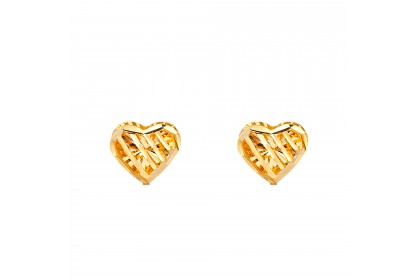 Oro Italia 916 Yellow Gold Earrings (1.27G) GE7091