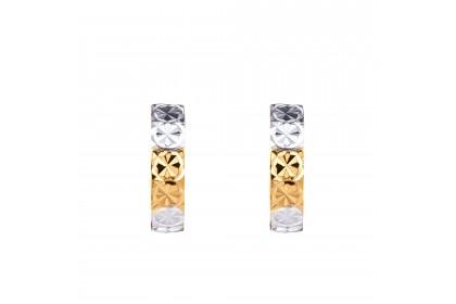 Oro Italia 916 White and Yellow Gold Earrings (1.64G) GE71220520-BI