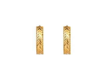Oro Italia 916 Yellow Gold Earrings (3.01G) GE7102