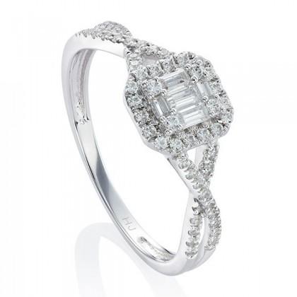 Fire On Ice Sparkle White Diamond Ring in 375/9K White Gold 24946