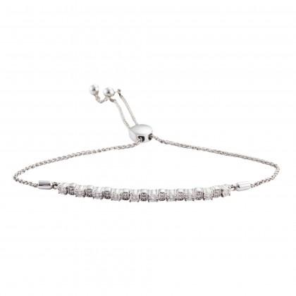 Amber Diamond Bolo Bracelet in 375/9KWhite Gold 67930