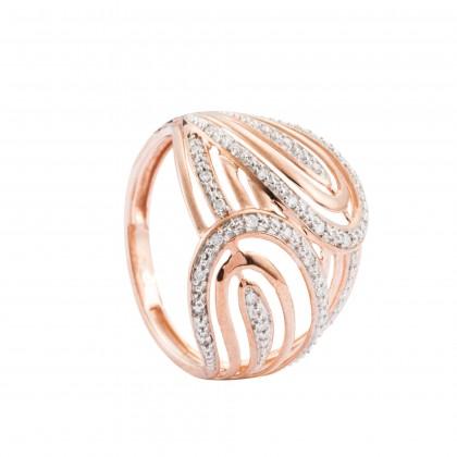 Dashuri Diamond Ring in 375/9K Rose Gold 25174