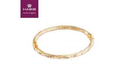 Irdeena Gold Bangle, 916 Gold (12.1g)