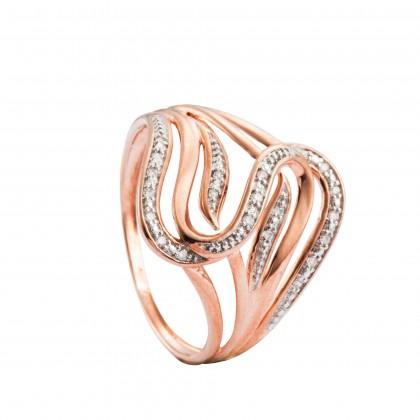 Esperanca Diamond Ring in 375/9K Rose Gold 25175