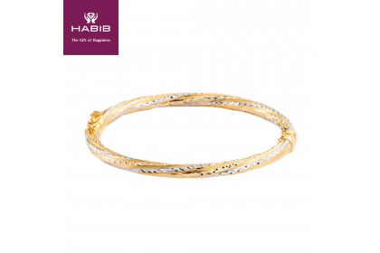 Irdeena Gold Bangle, 916 Gold (11.3G)