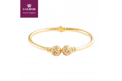 Arissa Gold Bangle, 916 Gold (11.9G)