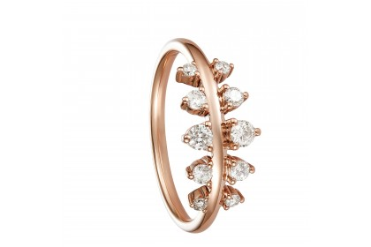 Young Collection Round Diamond Ring in 375/9K Rose Gold  258920820
