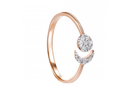 Young Collection Reverse Tapered-shank Round Diamond Ring in 375/9K Rose Gold 258880820